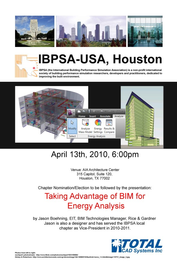 IBPSA-11 April Meeting