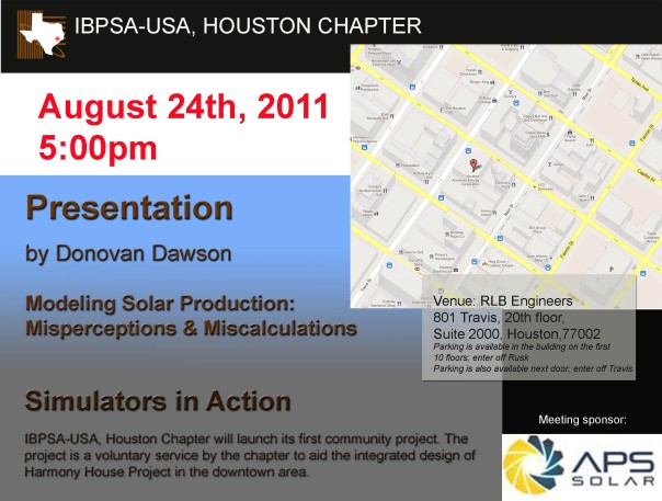 IBPSA-11 August Meeting