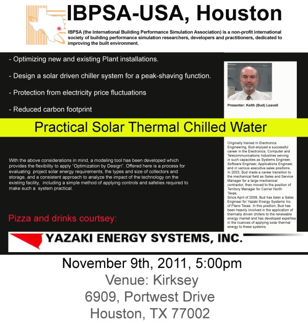 IBPSA-11 October Meeting Update